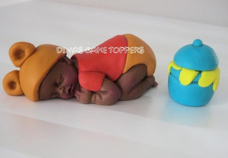 Bear Baby Cake Topper Baby Shower 1st Birthday door DinasCakeToppers, $25,00