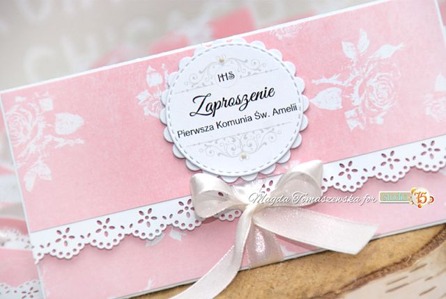 Zaproszenia na uroczystość Pierwszej Komunii / Invitations for the ceremony of the First Holy Communion