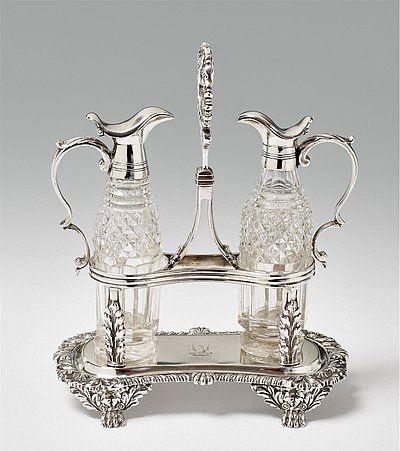 George IV Ménage - Art Auctionhouse Lempertz #silber #silver #lempertz #auctionhouse #art #decorativearts