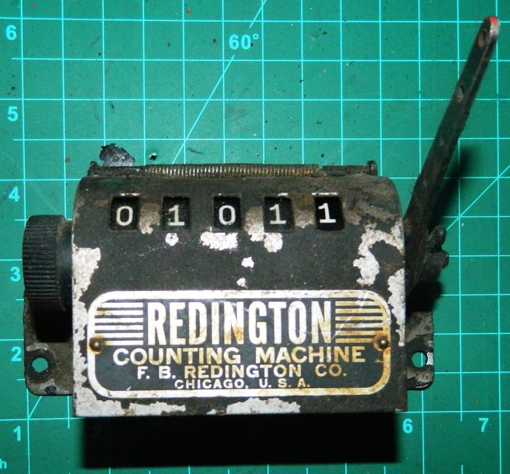 Antique Redington Numbering Machine Mechanical Number Counter Printing Press #9