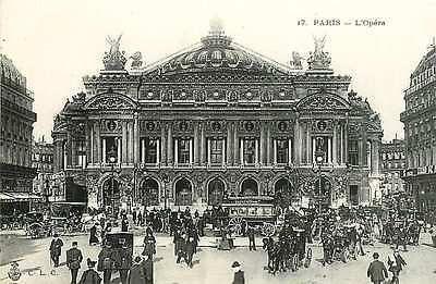 Paris France 1904 Opera House Charles Garnier Designer Antique Vintage Postcard Paris France Circa 1904 Opera of Paris Garnier designed by Charles Garnier for Emperor Napoleon III. Construction began More