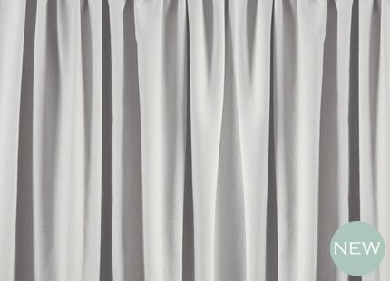 Lynton Dove Grey Plain Cotton Pencil Pleat Ready Made Curtains