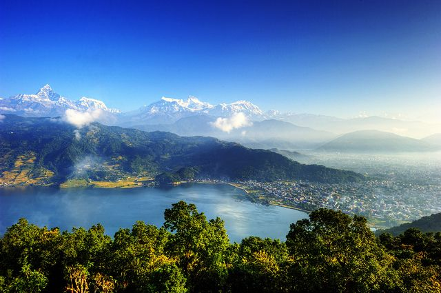 Pokhara, Nepal - We want to trek the foothills of the Himalayas one of these days.  Or something like that.  Look how gorgeous.