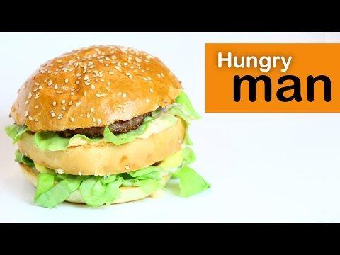 Биг Мак Рецепт | Как приготовить Биг Мак в домашних условиях -- Голодный Мужчина, Выпуск 45 - YouTube