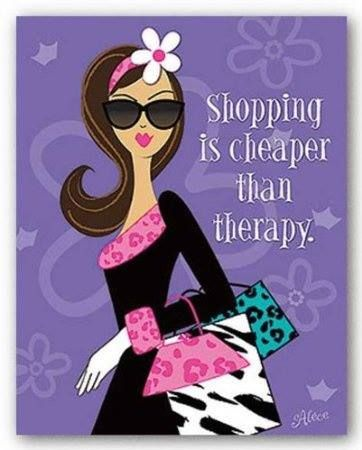 Nothing better than a bit of retail therapy!