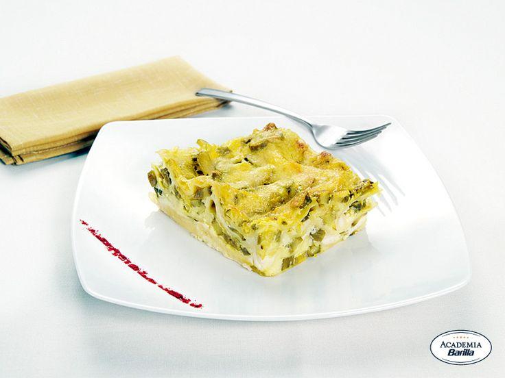 Lasagne con asparagi e zafferano
