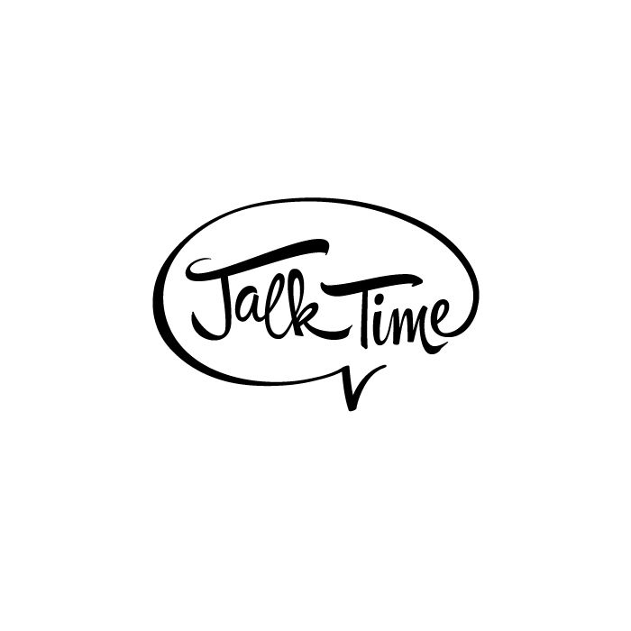 TALK TIME logo by WAKEUPTIME