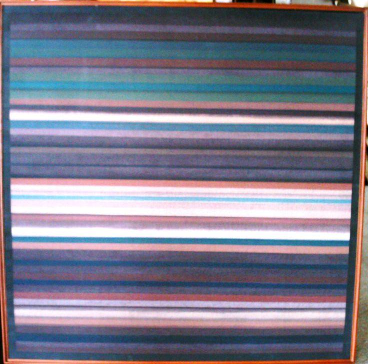 Carlos Rojas Serie Horizontes acrílico sobre lienzo 100 x 100 centímetros
