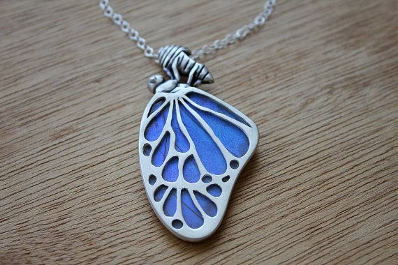 Real butterfly wing necklace- https://www.etsy.com/listing/226877291/real-butterfly-wing-necklace-chrysalis