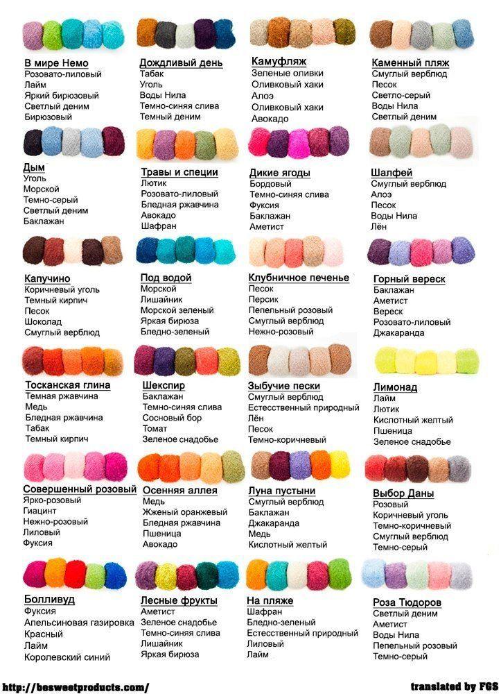 Сочетание цветов при вязании