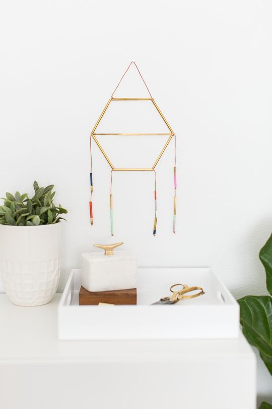 Make a dreamcatcher out of straws.