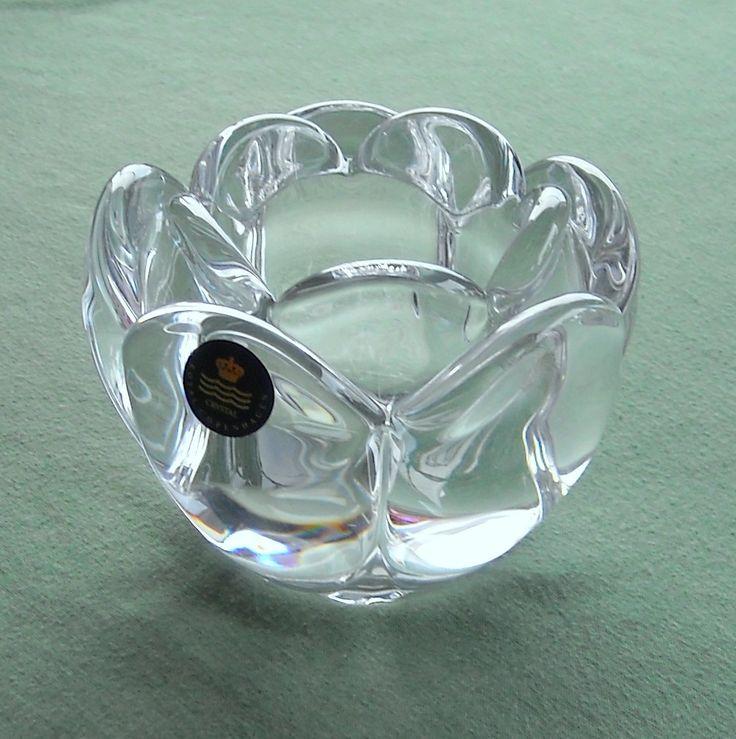 Danish Home Design Ideas:  Danish Royal Copenhagen Holmegaard Crystal Lotus Flower