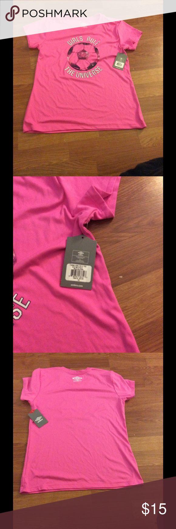 NWT Umbro shirt Says Girls rule the universe.  NWT.  XL from Umro. Umbro Shirts & Tops Tees - Short Sleeve