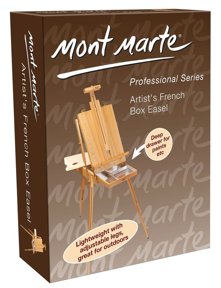 Art Shed Online - Mont Marte French Box Easel X.L. Beech, $189.00 (http://www.artshedonline.com.au/mont-marte-french-box-easel-x-l-beech/)
