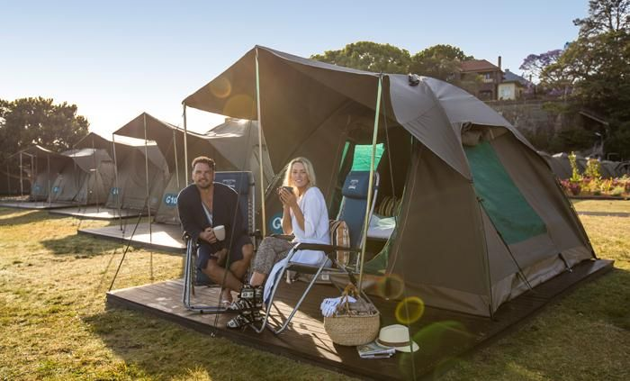 Glamping in Sydney Harbour   Cockatoo Island