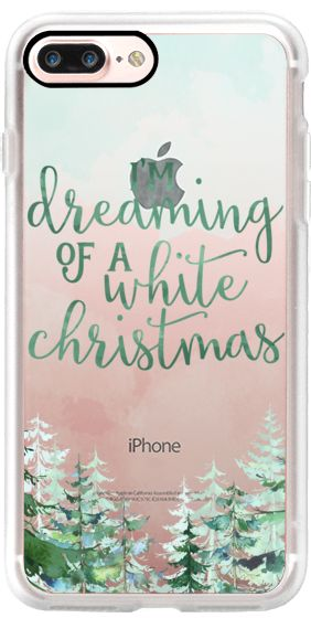 Casetify iPhone 7 Plus Classic Grip Case - I'm Dreaming of a White Christmas by The Olive Tree #Casetify