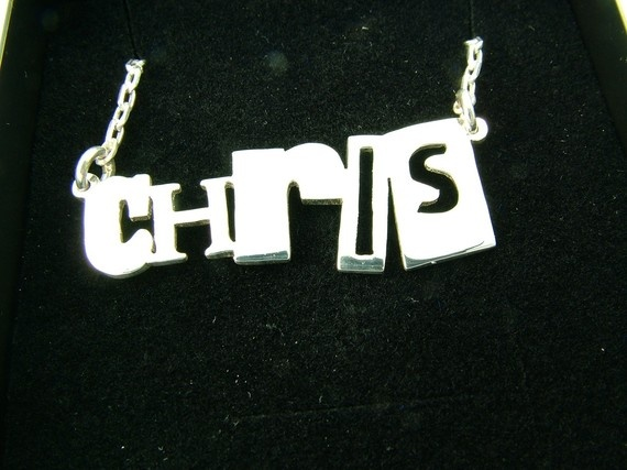 way funky sterling silver name necklace!