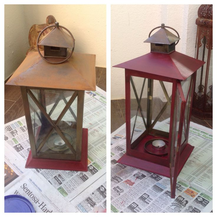 an old rusted fab-india lamp now have a new look!