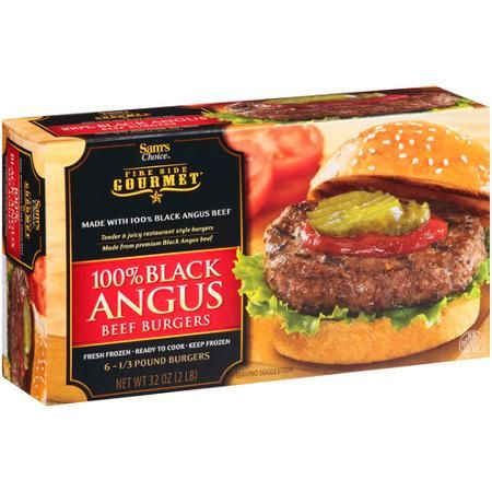 Sam's Choice Fire Side Gourmet 100% Black Angus Beef Burgers, 0.33 lb, 6 count  #GreatGuyGiftGuideContest