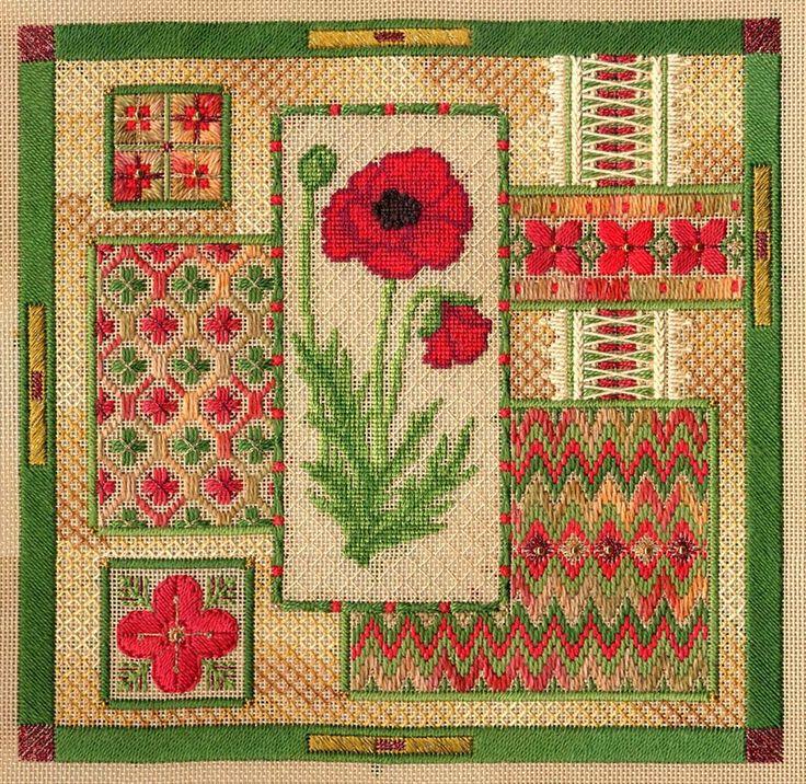Secret Garden Collection-Red Poppy Collage $16
