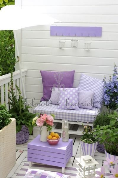 Nice little lavender corner just right to have a tea party with grandchildren!: