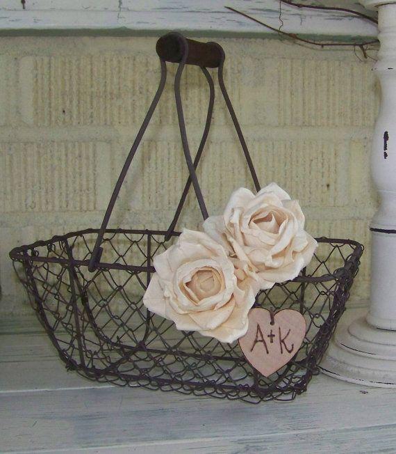 Burlap Flower Girl Basket Hobby Lobby : Best flower girl basket ideas on