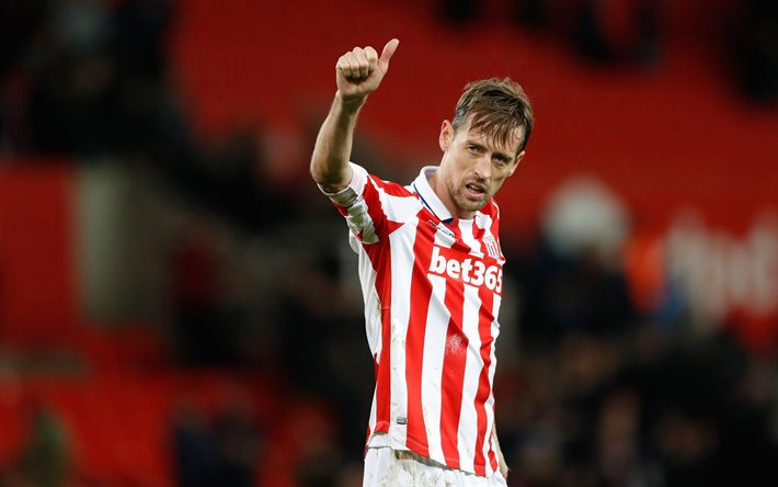 Télécharger fonds d'écran Peter Crouch, Stoke City FC, footballeur anglais, Premier League, royaume-Uni, le football, le 4k