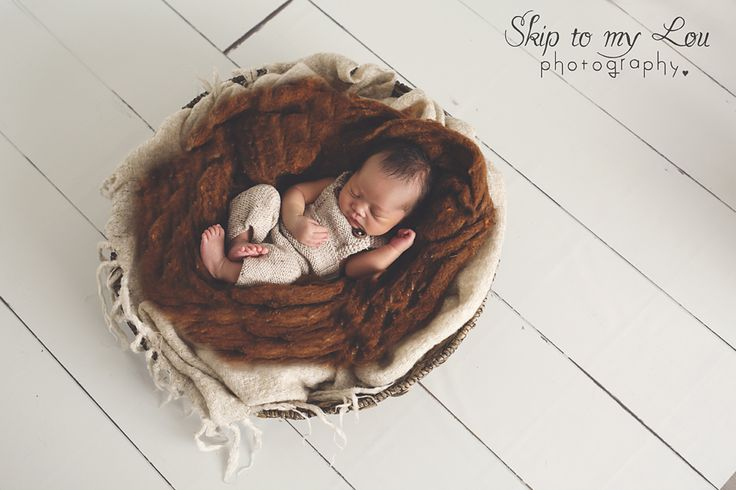 Melbourne Newborn Photographer - Aidan in a basket for his baby photos - 10 days old