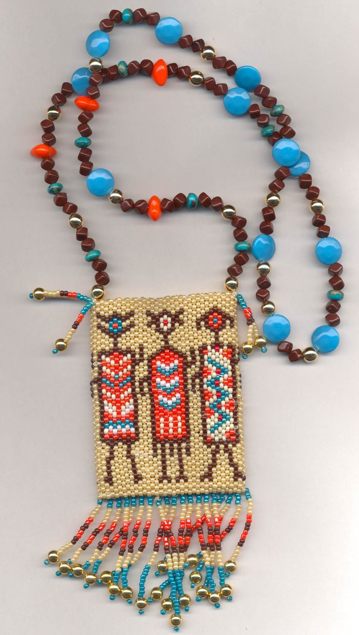 Bead Weaving | This was my second amulet purse. The pattern, Shamen, is another from ...