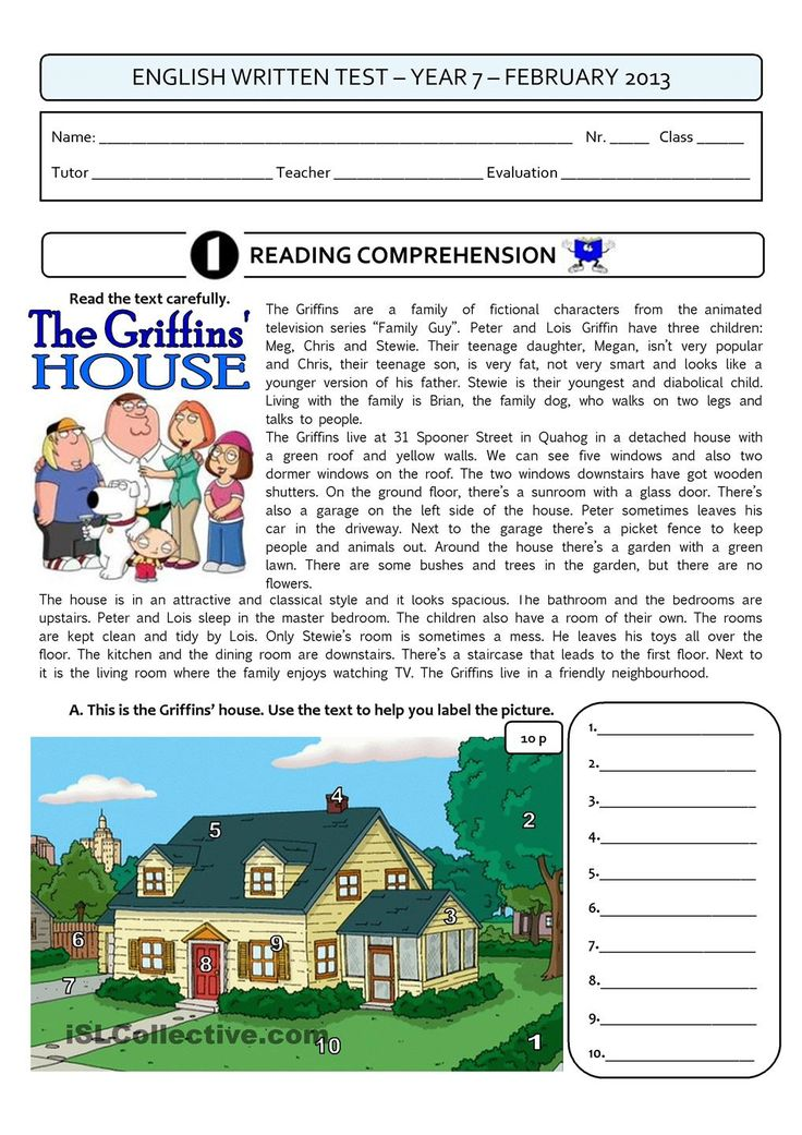 THE GRIFFINS HOUSE - a 4page test