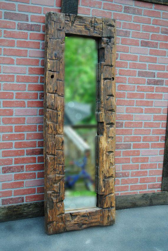 Mirror Reclaimed Wood Hand Hewn Barn Beam by ReclaimedState