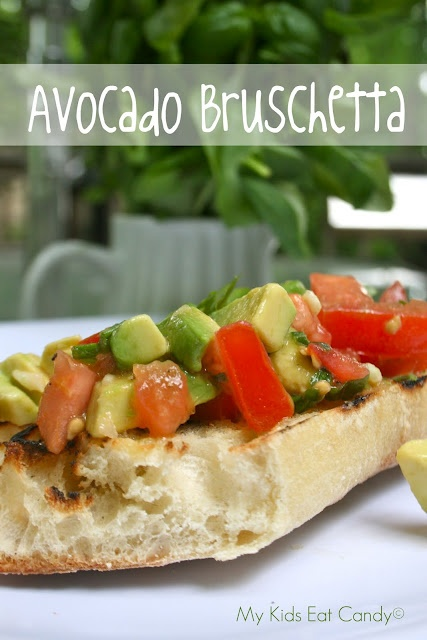 avocado bruschetta recipes food. Black Bedroom Furniture Sets. Home Design Ideas