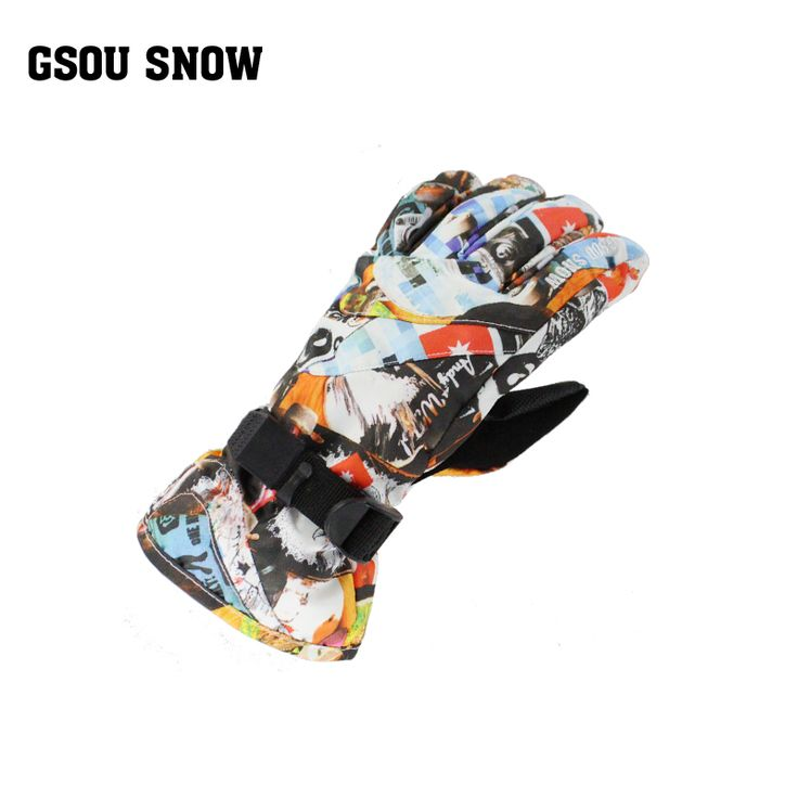 Gsou Snow winter gloves for children kids waterproof snowboard gloves boys guantes ciclismo invierno snow ski gloves thick warm