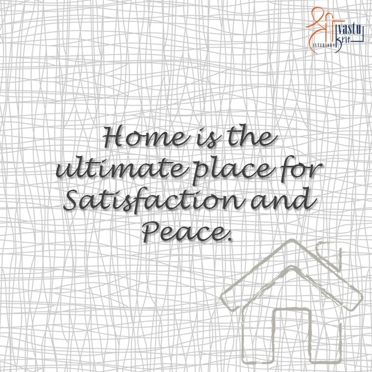 So are you enjoying your Sunday with satisfaction and peace at home today?  #ShriVastuKrit #VastuConsultant #Designing #Designer #InteriorDesign #Home #Quote
