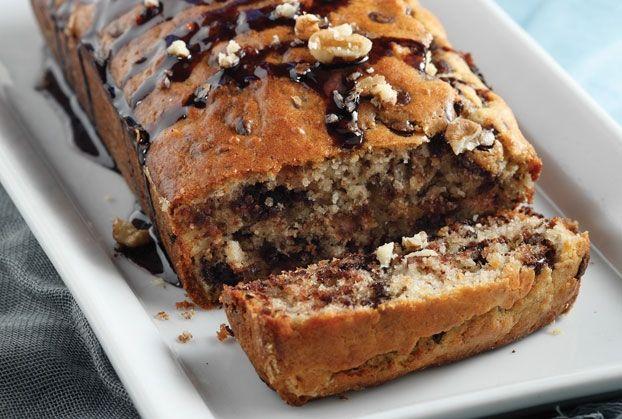 Γλυκό ψωμί σοκολάτας με φουντούκια