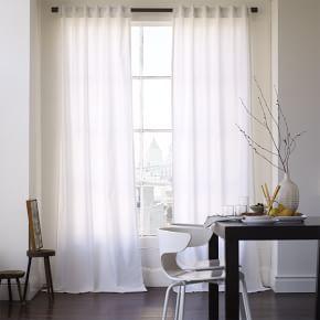 White Cotton Canvas Curtains