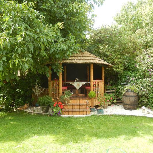 Create your very own garden retreat with a Safari Breeze House - a great way to enjoy your garden all year round! #garden #gardeninspo #gazebo #dreamgarden #retreat