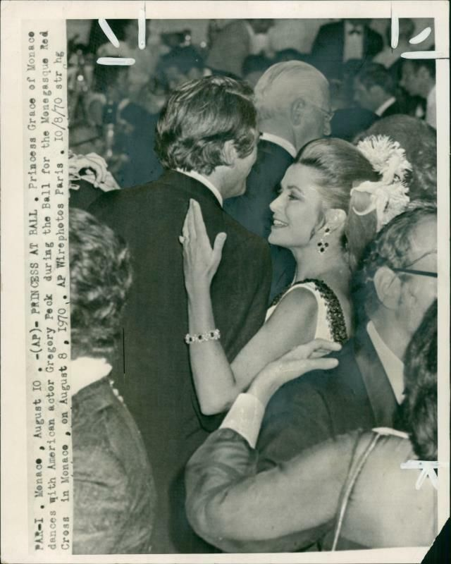84921255cc Details about Grace Kelly Film actress with Gregory Peck. - Vintage ...
