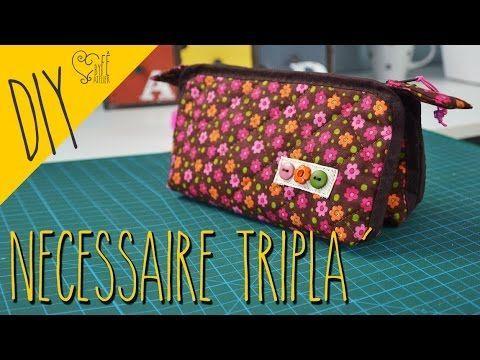 DIY ::: Necessaire Tripla - By Fê Atelier - YouTube