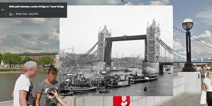 Tower Bridge, 1900 and 2014 | 12 Iconic London Locations Then And Now