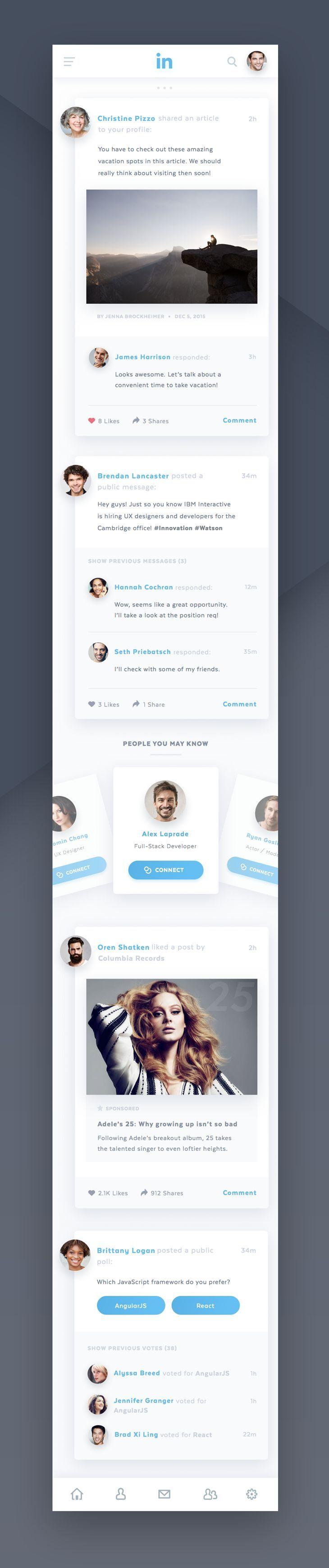 linkedin mobile app concept #mobile #ui #app