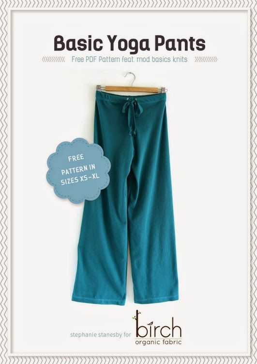 Free tutorial for these yoga pants along with a free PDF pattern in a great range of sizes! Awesome!