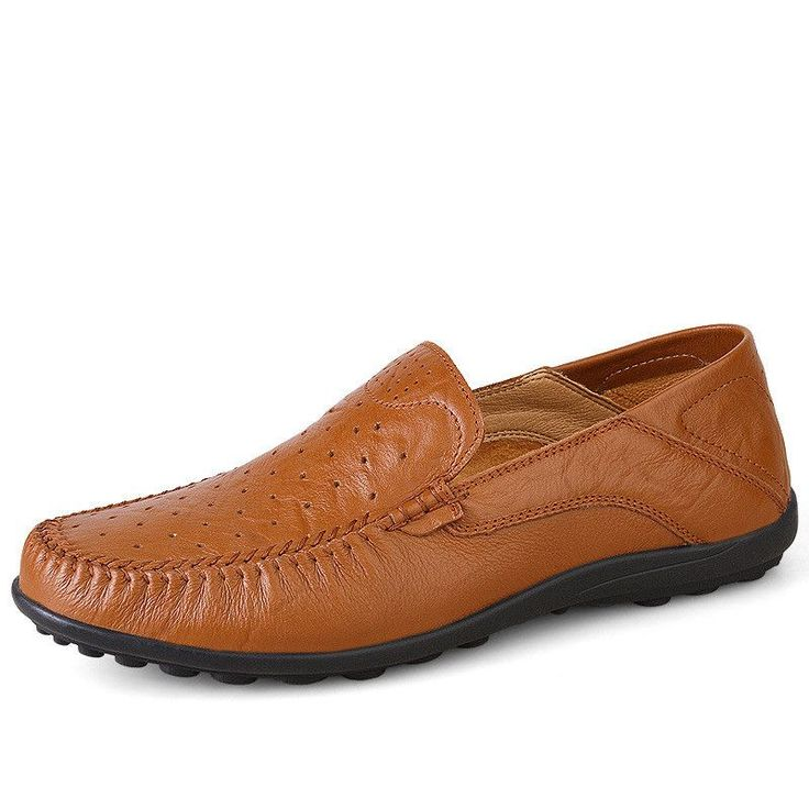 Breathable Calf Leather Loafers