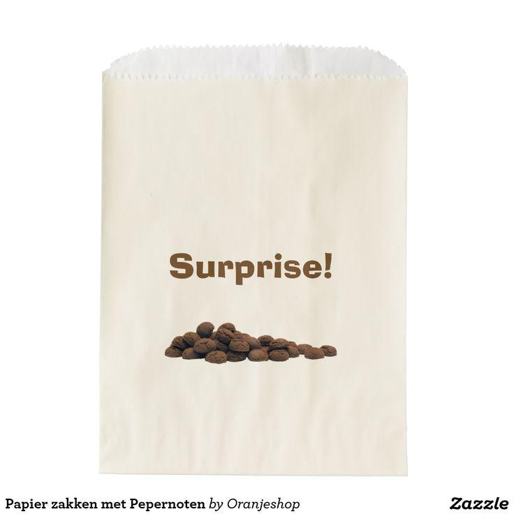 Papier zakken met Pepernoten Favor Bags