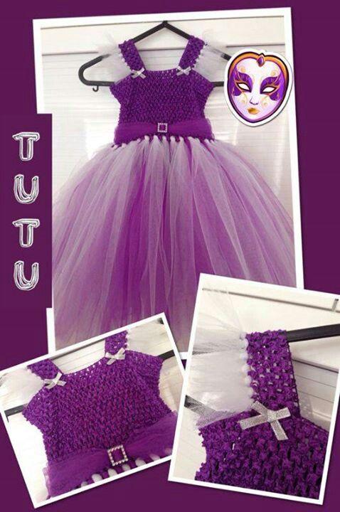 Purple and white tutu