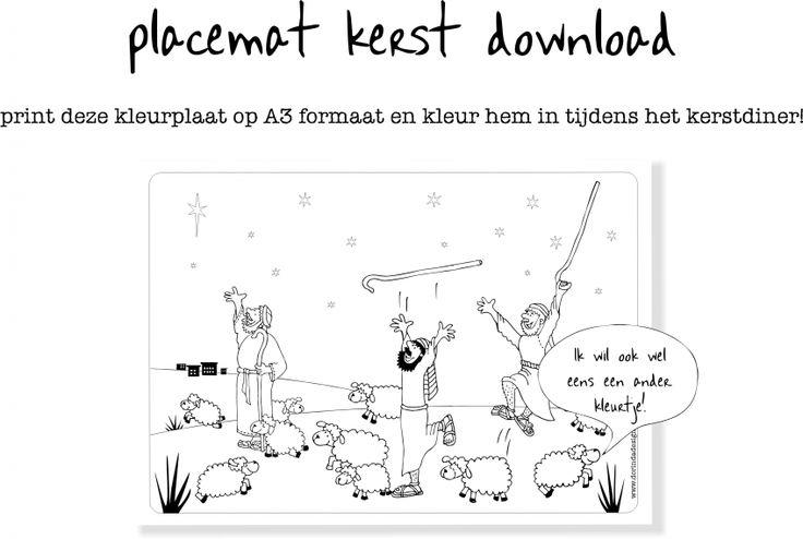 free printable christmas placemat www.dorindadesign.nl  Have fun!!