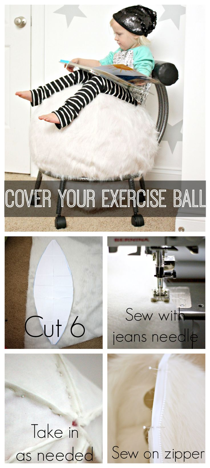 Bubble chairs for under 100 dollars - Cover Your Exercise Ball A Tutorial Because We All Know That Exercise Ball Is