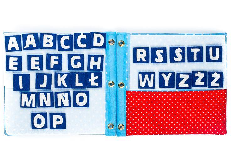 Quiet book. Literki alfabet
