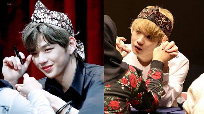 Kayak Gini Nih Kalau Member WANNA ONE dan JBJ Pakai Headband Batik, Uh Makin Kece Parah