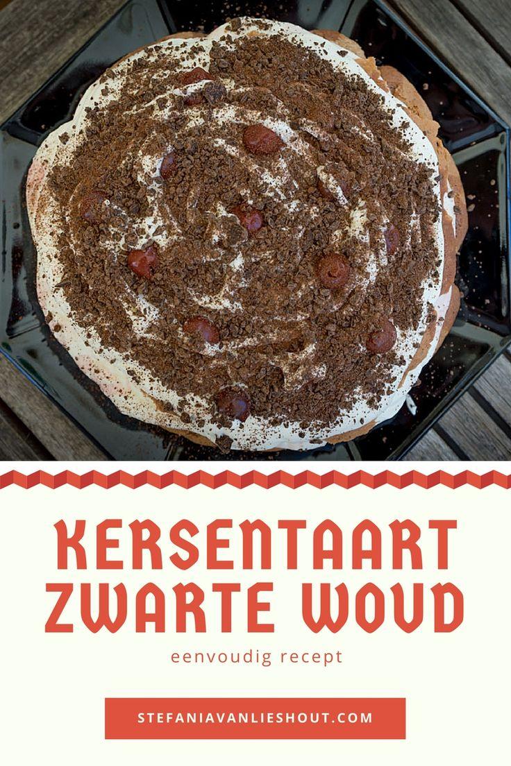 Recept voor een simpele maar lekkere kersentaart uit het Zwarte Woud in Duitsland.